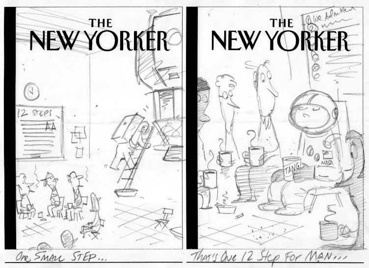 """New Yorker Cover Sketches (2 for 1)"" is copyright ©2008 by Bob Staake.  All rights reserved.  Reproduction prohibited."