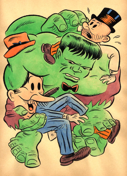 """*CARTOON JUMBLE -HULK AND MUTT & JEFF"" is copyright ©2008 by Jeremy Eaton.  All rights reserved.  Reproduction prohibited."