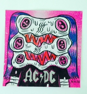 """AC/DC Post-It"" is copyright ©2008 by Kevin Scalzo.  All rights reserved.  Reproduction prohibited."