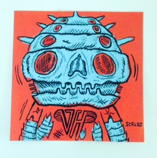 """Van Halen Alien post-it"" is copyright ©2008 by Kevin Scalzo.  All rights reserved.  Reproduction prohibited."