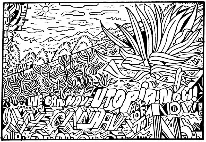 """ENTER THE CARTOON UTOPIA #58"" is copyright ©2008 by Ron Regé, Jr..  All rights reserved.  Reproduction prohibited."