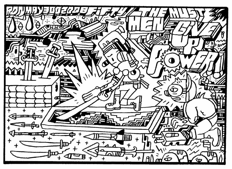 """ENTER THE CARTOON UTOPIA #50"" is copyright ©2008 by Ron Regé, Jr..  All rights reserved.  Reproduction prohibited."