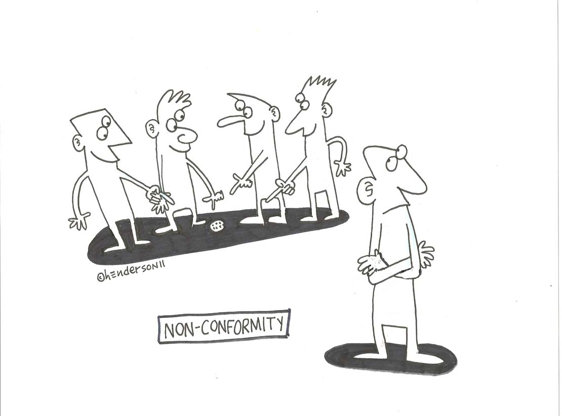 """Non-conformity"" is copyright ©2008 by Sam Henderson.  All rights reserved.  Reproduction prohibited."