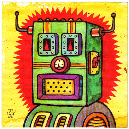 """Transmitter Robot"" is copyright ©2008 by J.R. Williams.  All rights reserved.  Reproduction prohibited."