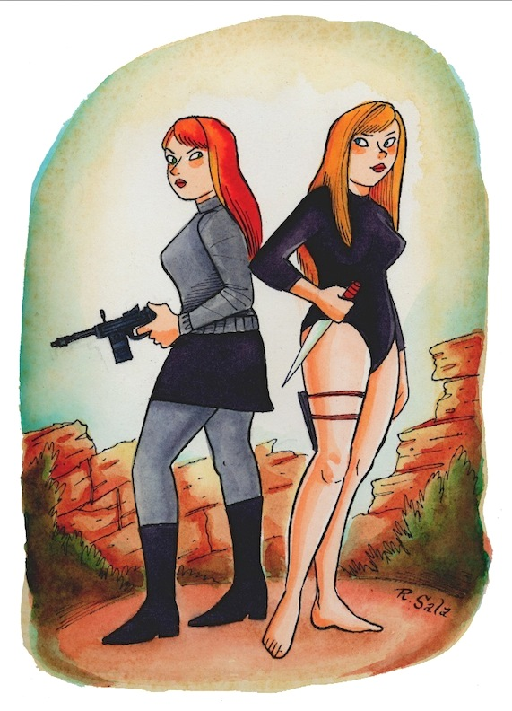 """Spy Girls"" is copyright ©2008 by Richard Sala.  All rights reserved.  Reproduction prohibited."
