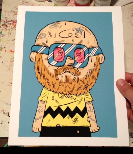 """Hipster Charlie Brown Giclee print"" is copyright ©2008 by Kevin Scalzo.  All rights reserved.  Reproduction prohibited."