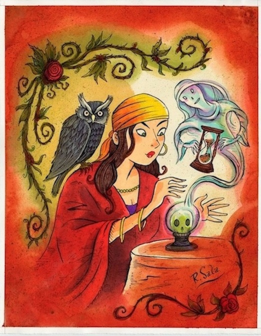 """The Fortune Teller"" is copyright ©2008 by Richard Sala.  All rights reserved.  Reproduction prohibited."