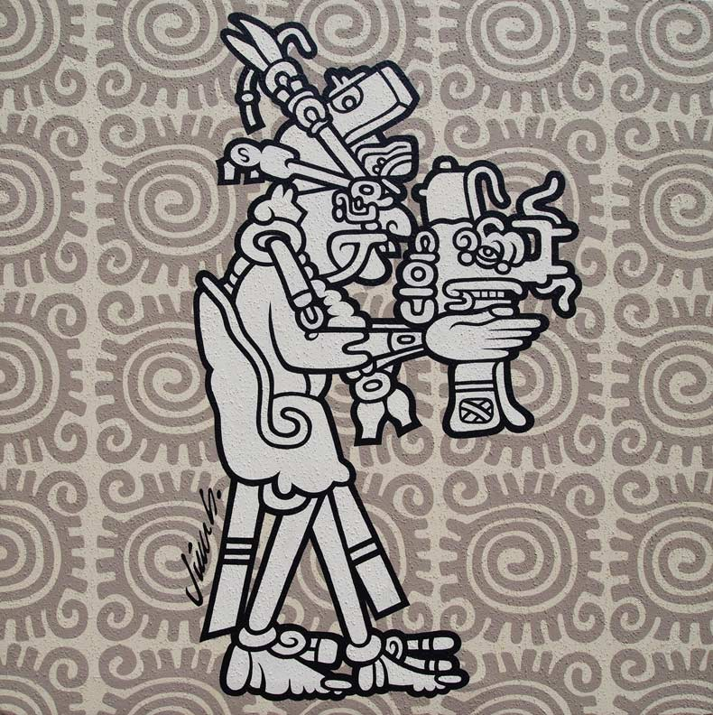 """MAYAN DUDE PAINTING"" is copyright ©2008 by Jim Blanchard.  All rights reserved.  Reproduction prohibited."