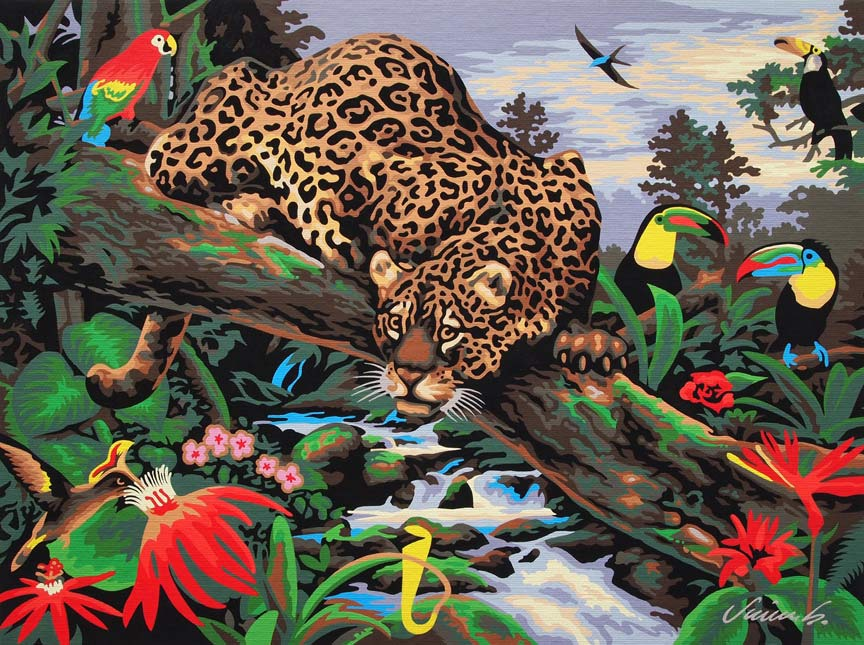 """JUNGLE LEOPARD PAINTING"" is copyright ©2008 by Jim Blanchard.  All rights reserved.  Reproduction prohibited."