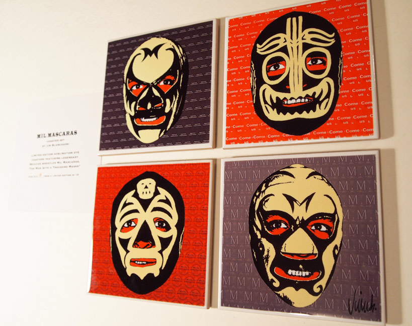 """MIL MASCARAS COASTER SET"" is copyright ©2008 by Jim Blanchard.  All rights reserved.  Reproduction prohibited."