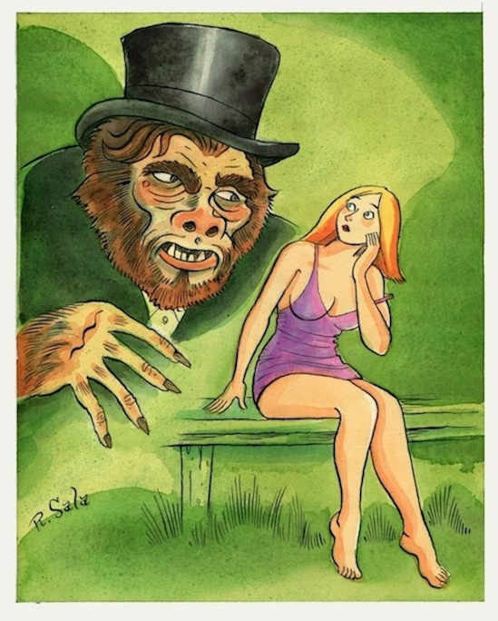 """Return of Mr. Hyde"" is copyright ©2008 by Richard Sala.  All rights reserved.  Reproduction prohibited."