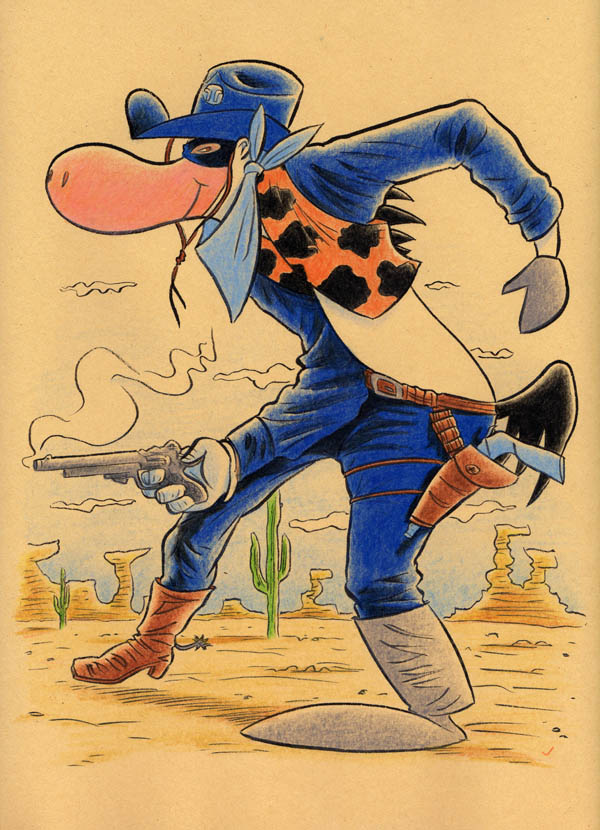 """CARTOON JUMBLE! - QUICKDRAW MCGRAW & TWO-GUN KID"" is copyright ©2008 by Jeremy Eaton.  All rights reserved.  Reproduction prohibited."