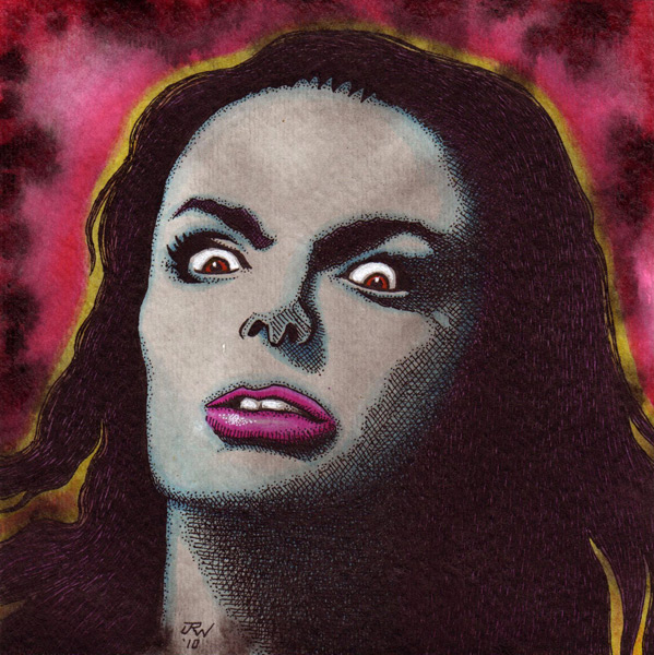 """Barbara Steele"" is copyright ©2008 by J.R. Williams.  All rights reserved.  Reproduction prohibited."