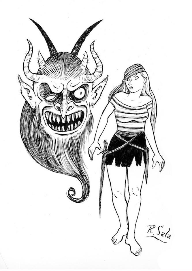 """Ghouls and Girls #3"" is copyright ©2008 by Richard Sala.  All rights reserved.  Reproduction prohibited."