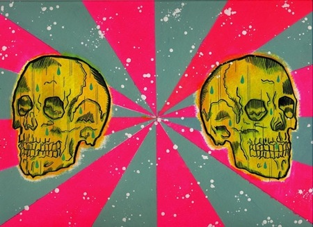 """Yellow Skulls"" is copyright ©2008 by Kevin Scalzo.  All rights reserved.  Reproduction prohibited."