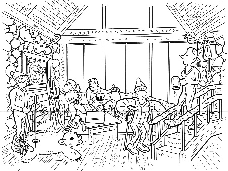 """Disney Ski Lodge"" is copyright ©2008 by Bob Fingerman.  All rights reserved.  Reproduction prohibited."