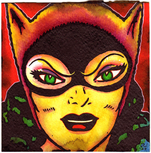"""Feline (Catwoman)"" is copyright ©2008 by J.R. Williams.  All rights reserved.  Reproduction prohibited."