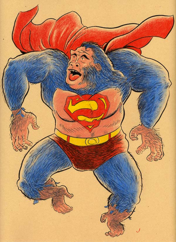 """SUPERMAN GOES APE!"" is copyright ©2008 by Jeremy Eaton.  All rights reserved.  Reproduction prohibited."