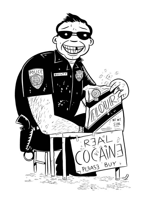 """COCAINE COP"" is copyright ©2008 by Jeremy Eaton.  All rights reserved.  Reproduction prohibited."