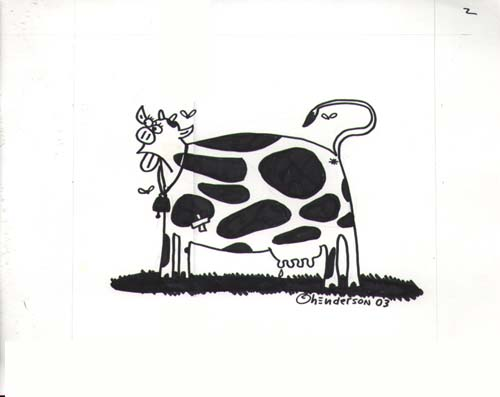 """Cow"" is copyright ©2008 by Sam Henderson.  All rights reserved.  Reproduction prohibited."