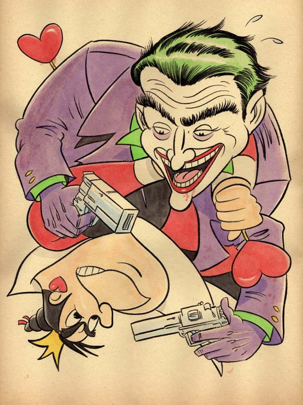 """CARTOON JUMBLE! THE JOKER & THE QUEEN OF HEART"" is copyright ©2008 by Jeremy Eaton.  All rights reserved.  Reproduction prohibited."