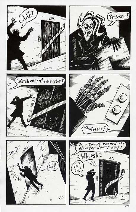 """Mad Night - page 207"" is copyright ©2008 by Richard Sala.  All rights reserved.  Reproduction prohibited."