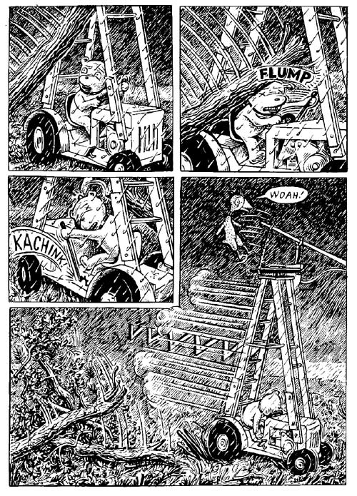 """Fuzz & Pluck chapter 4, page 6"" is copyright ©2008 by Ted Stearn.  All rights reserved.  Reproduction prohibited."
