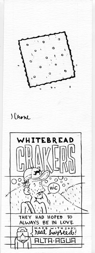 """Cracker illustration for Agua Alta"" is copyright ©2008 by Jordan Crane.  All rights reserved.  Reproduction prohibited."