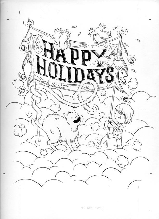 """Happy Holidays"" is copyright ©2008 by Jordan Crane.  All rights reserved.  Reproduction prohibited."