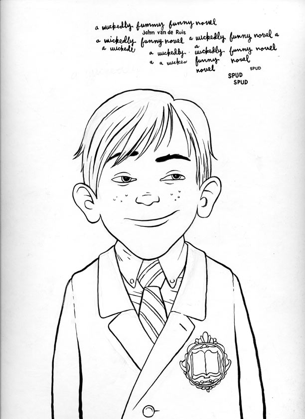 """Impish kid for book cover"" is copyright ©2008 by Jordan Crane.  All rights reserved.  Reproduction prohibited."