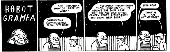 """Robot Grampa"" is copyright ©2008 by M. Kupperman.  All rights reserved.  Reproduction prohibited."
