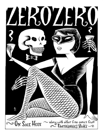 """Zero Zero Poster ORIG. ART"" is copyright ©2008 by Richard Sala.  All rights reserved.  Reproduction prohibited."