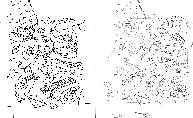 """Disney Maze with pencil rough"" is copyright ©2008 by Bob Fingerman.  All rights reserved.  Reproduction prohibited."