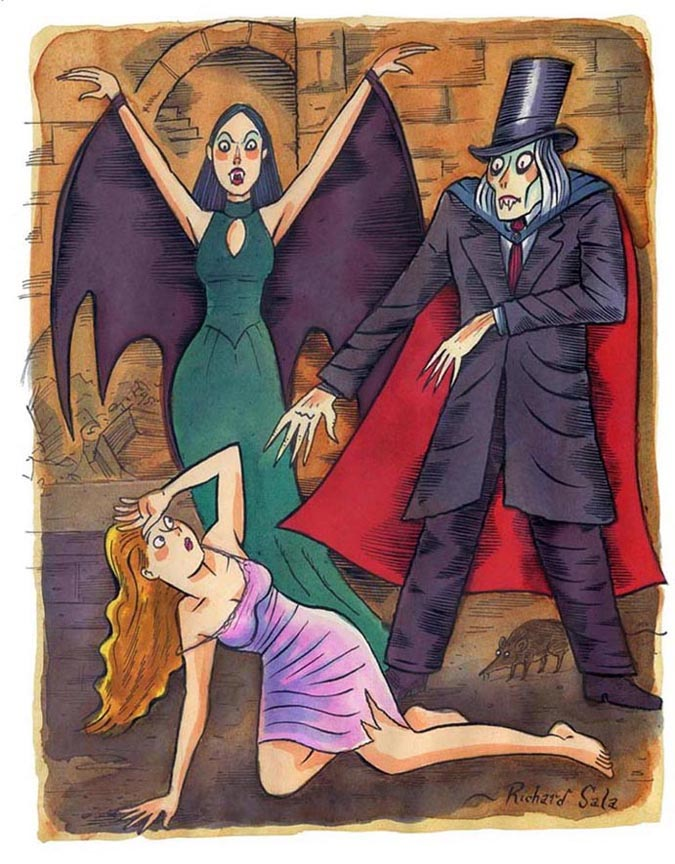 """A Victorian Vampire"" is copyright ©2008 by Richard Sala.  All rights reserved.  Reproduction prohibited."