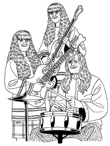 """'The Shaggs' illustration"" is copyright ©2008 by Jaime Hernandez.  All rights reserved.  Reproduction prohibited."