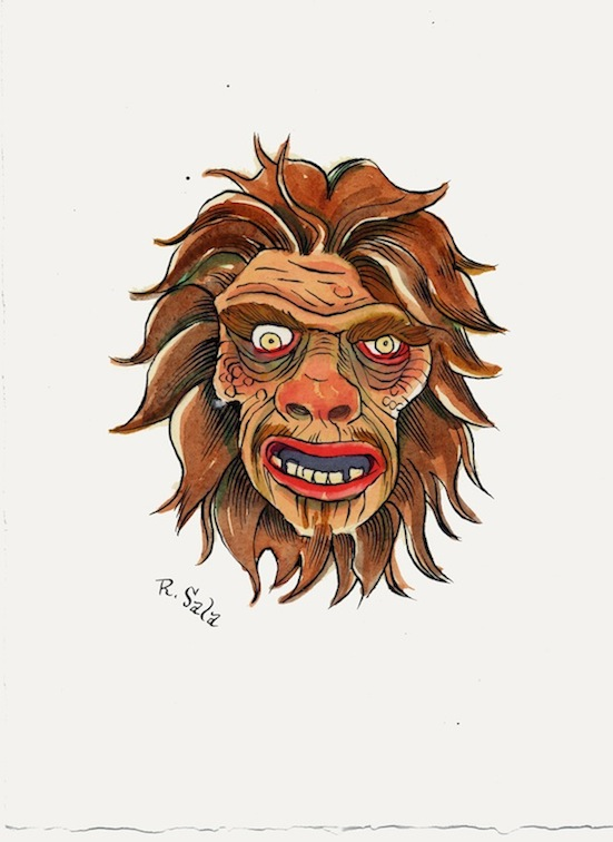 """Mr. Hyde - Unmasked Series"" is copyright ©2008 by Richard Sala.  All rights reserved.  Reproduction prohibited."