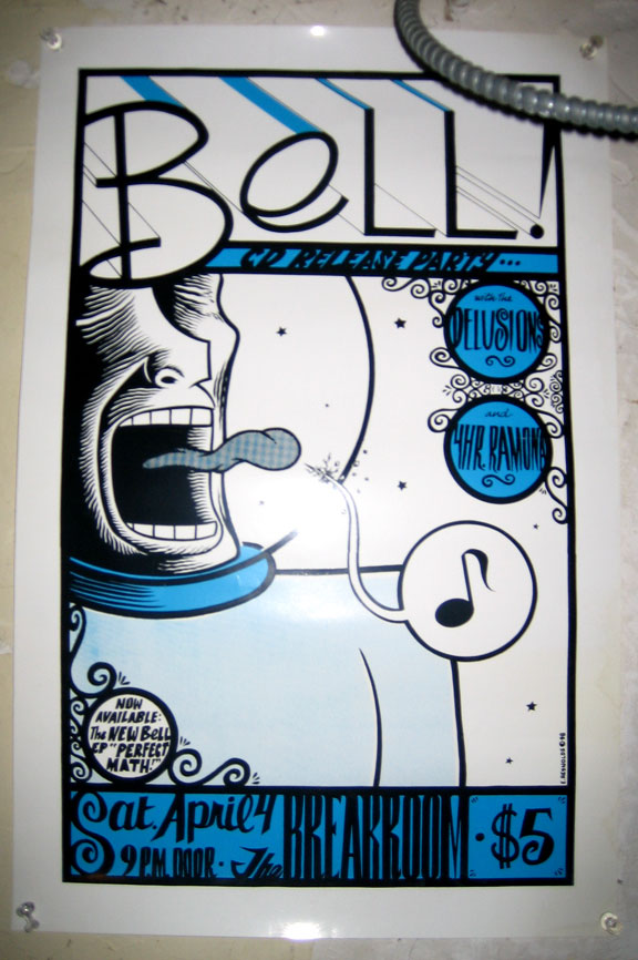 """Bell screenprint poster"" is copyright ©2008 by Eric Reynolds.  All rights reserved.  Reproduction prohibited."