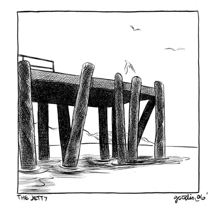 """McSWEENEY'S 21 Tall Man - Jetty"" is copyright ©2008 by Robert Goodin.  All rights reserved.  Reproduction prohibited."