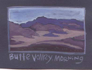 """Butte Valley Morning [full colour mini painting]"" is copyright ©2008 by Molly Kiely.  All rights reserved.  Reproduction prohibited."