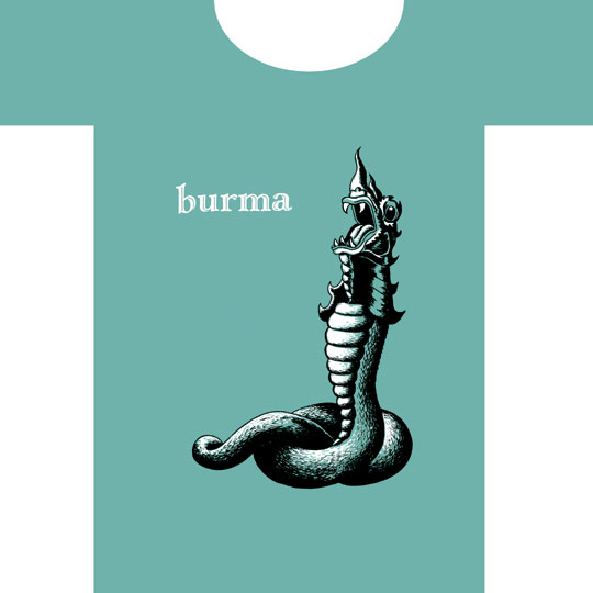 """Burma tee-shirt"" is copyright ©2008 by  Mats!?.  All rights reserved.  Reproduction prohibited."