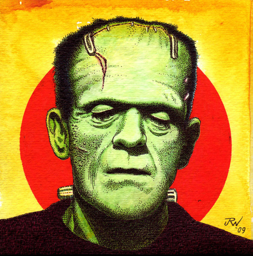 """Karloff-Frankenstein's Monster"" is copyright ©2008 by J.R. Williams.  All rights reserved.  Reproduction prohibited."