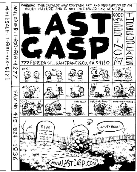 """Last Gasp catalog cover"" is copyright ©2008 by Steven Weissman.  All rights reserved.  Reproduction prohibited."