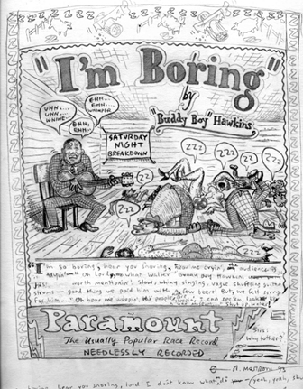 """I'M BORING (Preliminary pencil drawing)"" is copyright ©2008 by Tony Mostrom.  All rights reserved.  Reproduction prohibited."