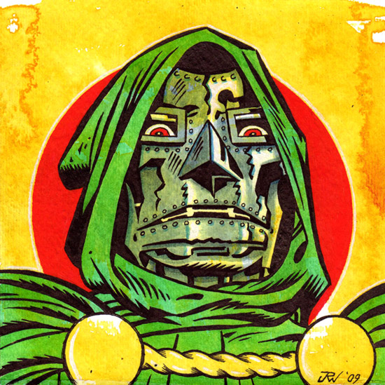 """Doctor Doom"" is copyright ©2008 by J.R. Williams.  All rights reserved.  Reproduction prohibited."