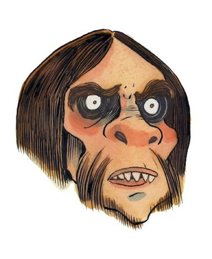 """Unmasked Series: Neanderthal Man"" is copyright ©2008 by Richard Sala.  All rights reserved.  Reproduction prohibited."