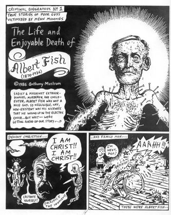 """Albert Fish (page 1)"" is copyright ©2008 by Tony Mostrom.  All rights reserved.  Reproduction prohibited."
