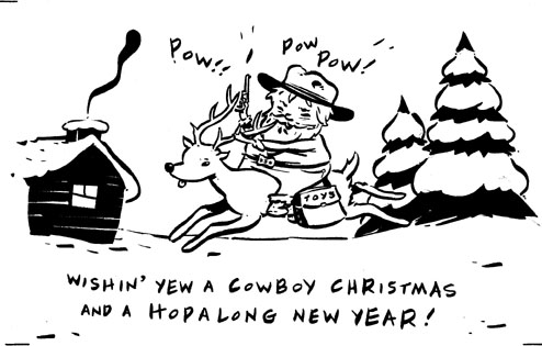 """A CHRISTMAS COWBOY"" is copyright ©2008 by Steven Weissman.  All rights reserved.  Reproduction prohibited."