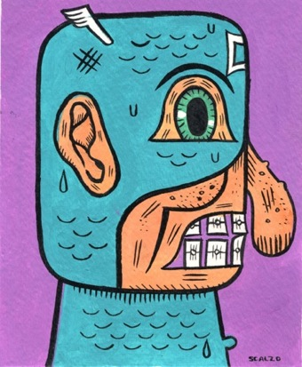 """Captain Dopey Nose painting"" is copyright ©2008 by Kevin Scalzo.  All rights reserved.  Reproduction prohibited."