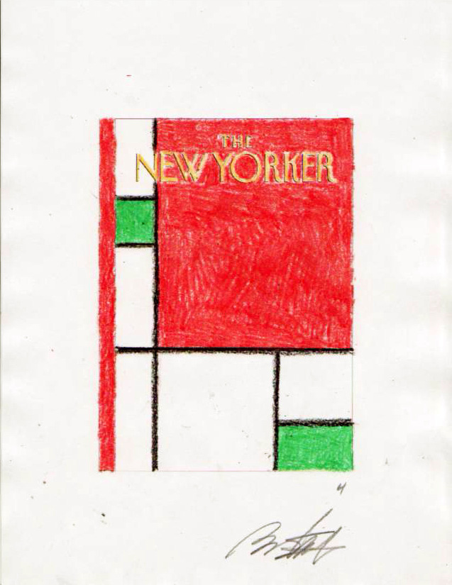 """New Yorker Cover Sketch (Minimalist Christmas) #4"" is copyright ©2008 by Bob Staake.  All rights reserved.  Reproduction prohibited."