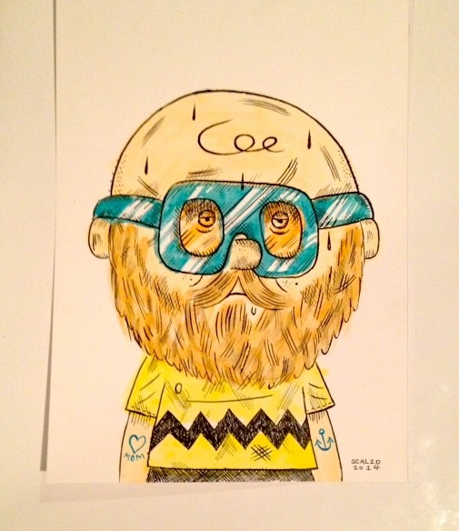 """HIPSTER CHARLIE BROWN"" is copyright ©2008 by Kevin Scalzo.  All rights reserved.  Reproduction prohibited."